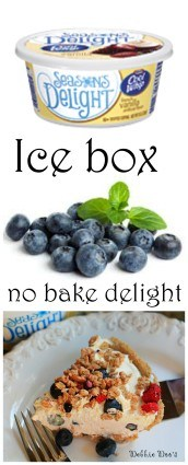 easy no bake icebox cake recipe with fresh blueberries, french vanilla cool whip yogurt