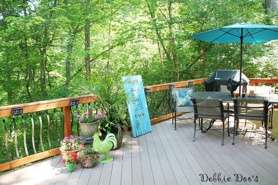 outdoor deck and garden