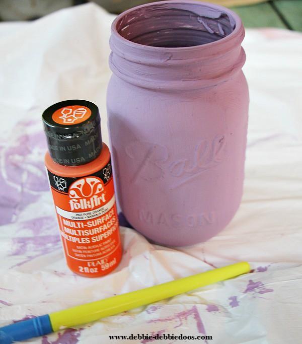personalized clemson mason jar