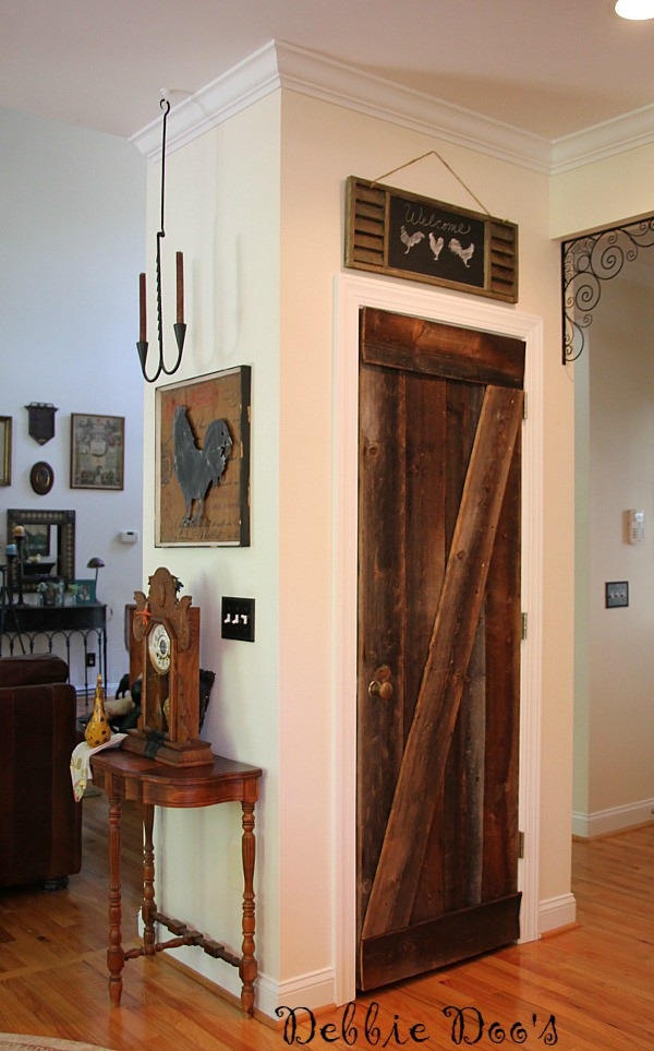 tobacco barnwood pantry door