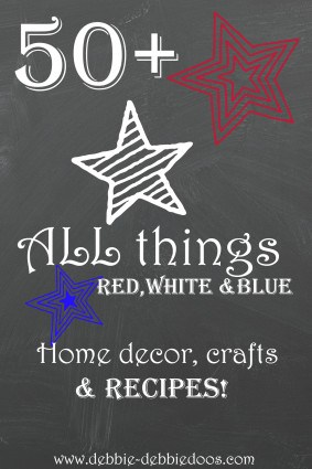 50+all things red white and blue