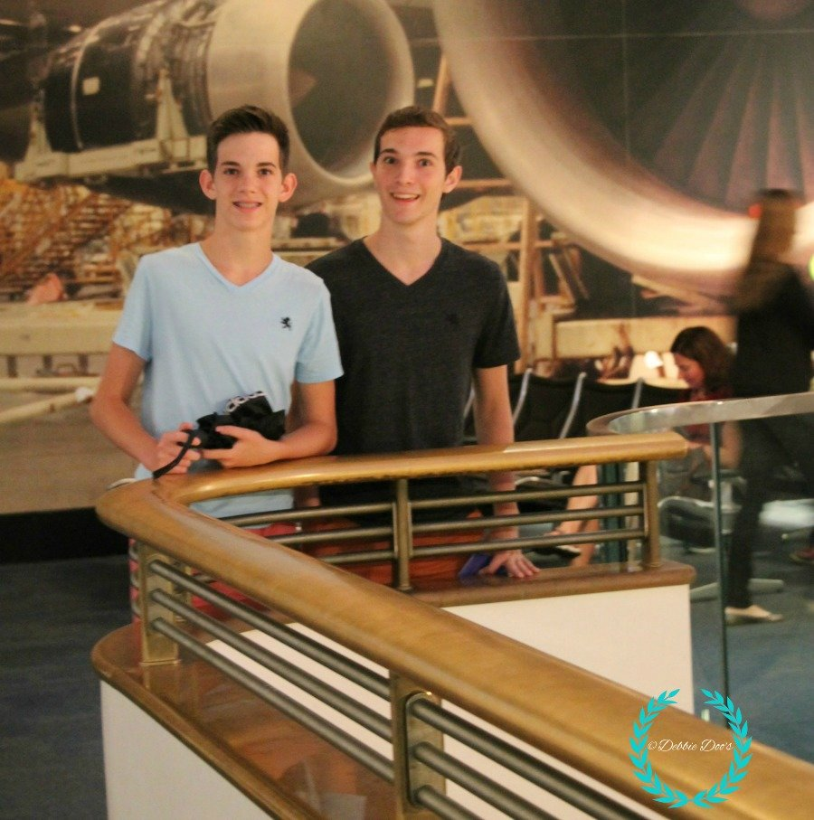 alex and jack at the Science museum