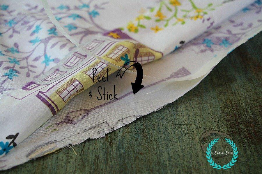 making a no sew pillow