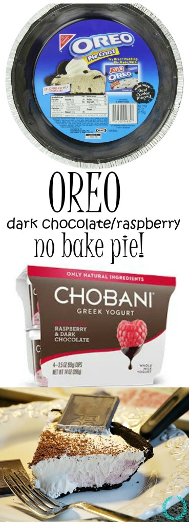 oreo icebox raspberry dark chocolate yogurt pie
