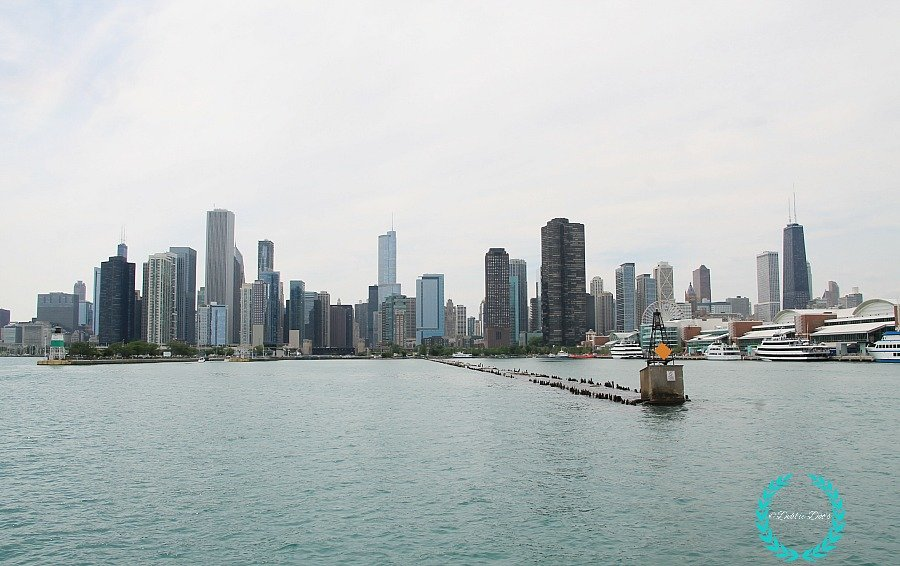 view from the sail ship at the navy pier in Chicago