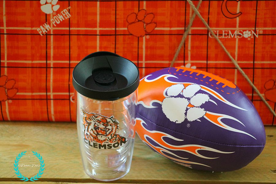 Clemson college cup and football