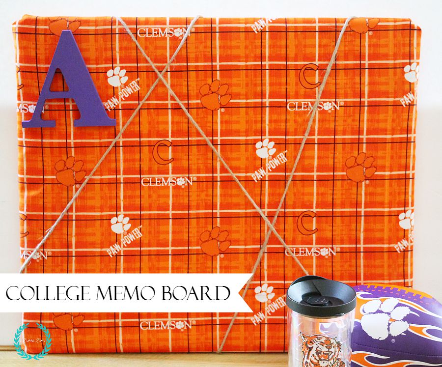College memo board for keeping organized with your to do list
