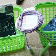 Dollar tree organiing basket turned garden hanger
