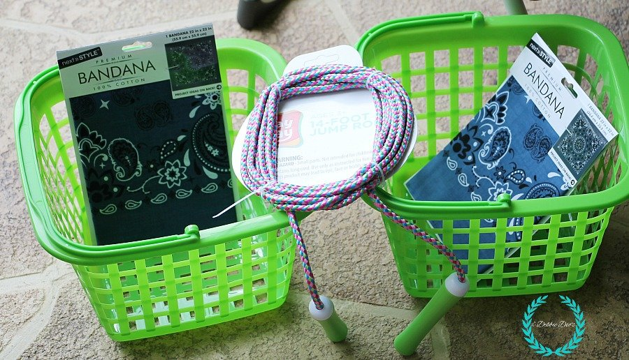 Dollar tree organizing baskets turned garden hanger