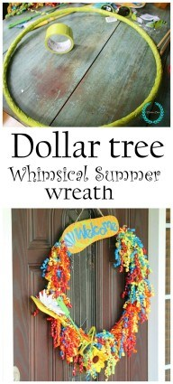 Dollar tree whimsical wreath idea