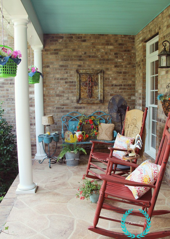 Front porch decor with dollar tree ideas