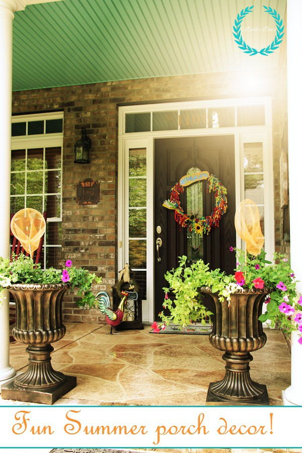 Fun summer porch decor ideas with dollar tree