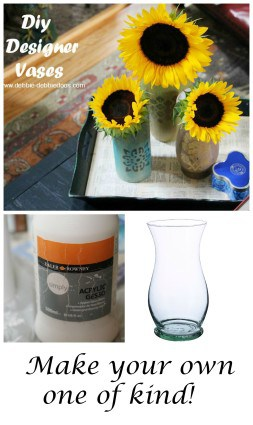 How to create designer vases