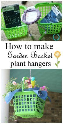 How to make garden basket plant hangers