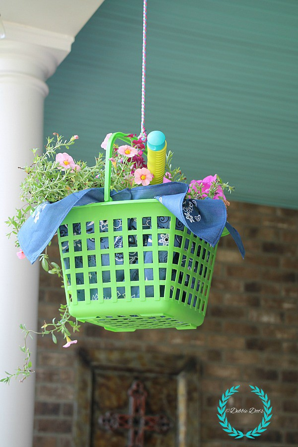 Porch decorating ideas with dollar tree decor