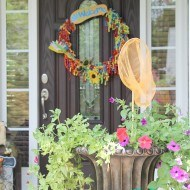 Whimsical Southern style porch
