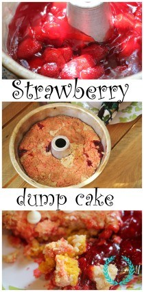 Strawberry dump cake recipe to die for