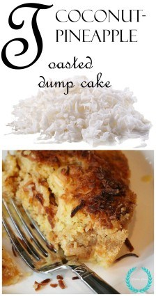 Toasted coconut dump cake with pineapple