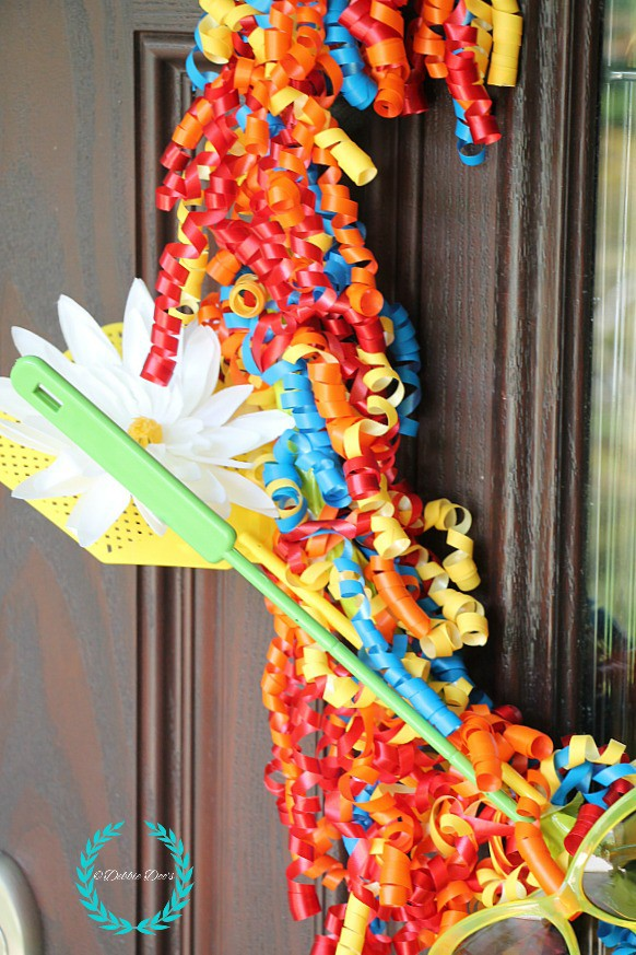 Whimsical summer wreath