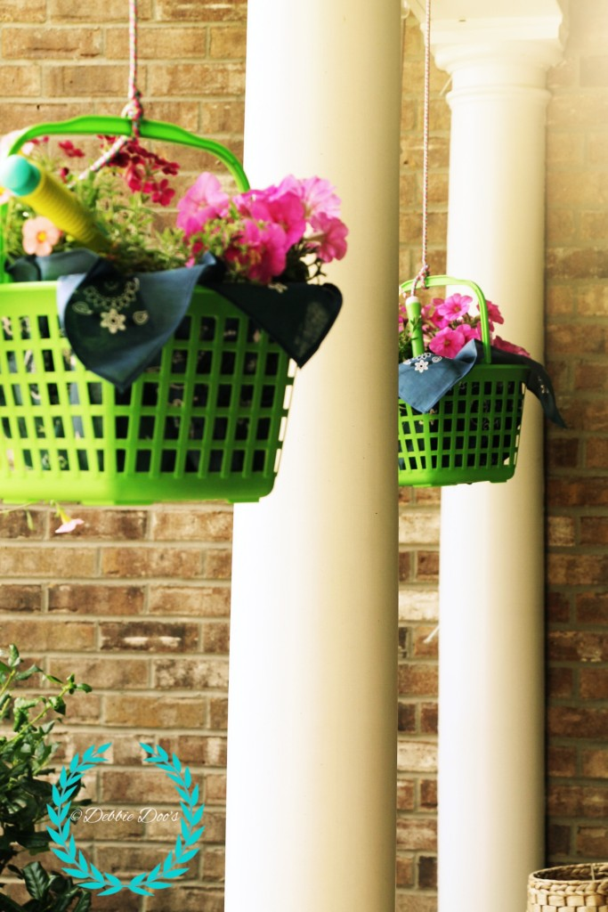 hanging porch baskets from dollar tree diy