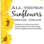 All things sunflowers home decor and craft ideas