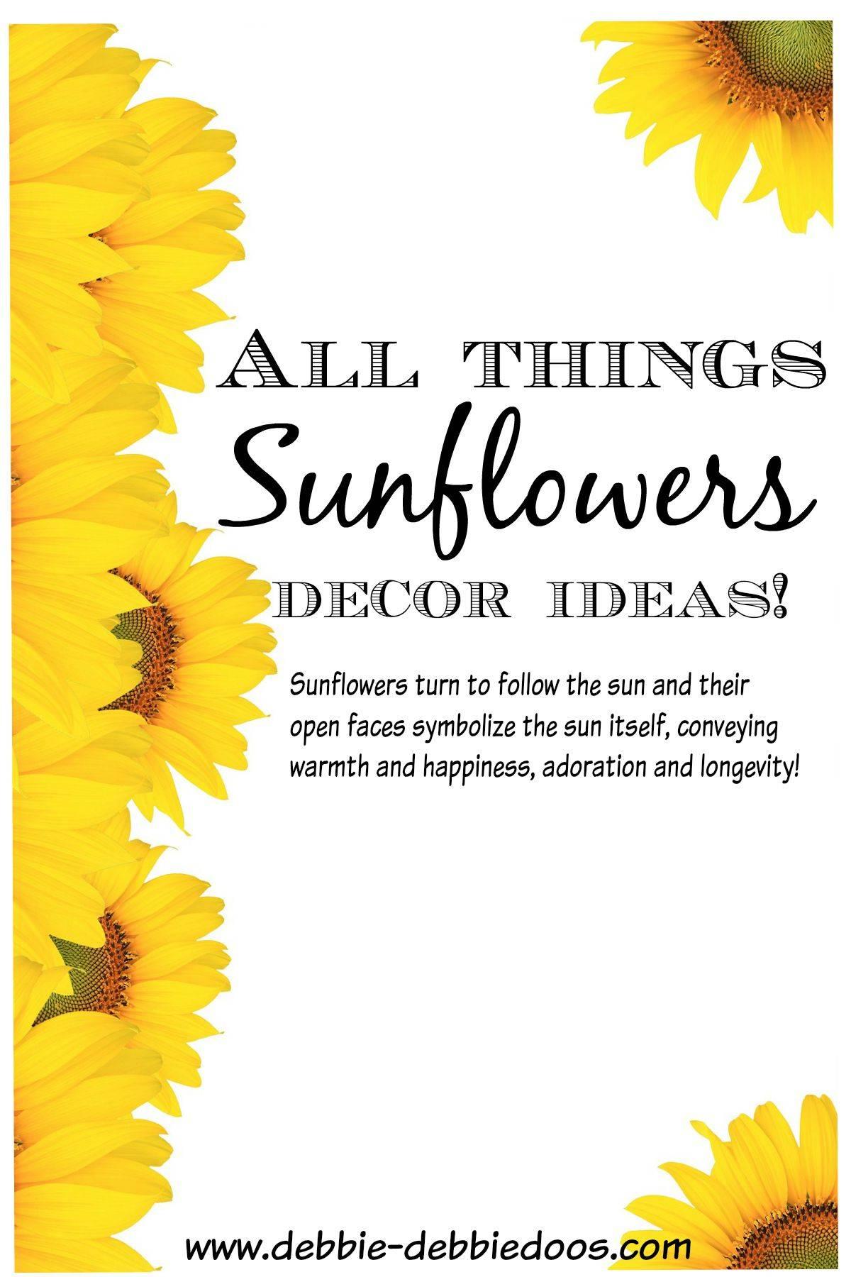 All things Sunflowers - Debbiedoos