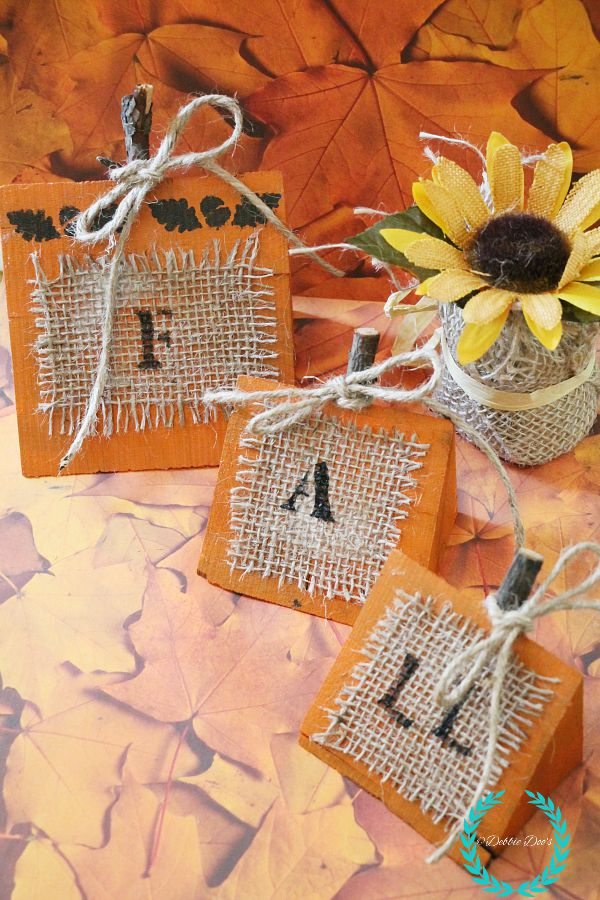 Fall rustic wood pumpkins