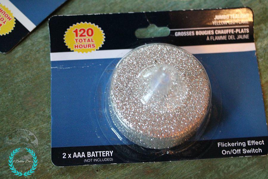 Glitter votives from Dollar tree