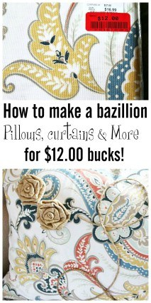 How to make a bazillion home decor pillows, curtains, runners and more for $12.00