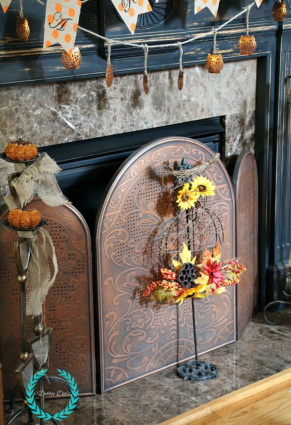 Owl fall mantel decor