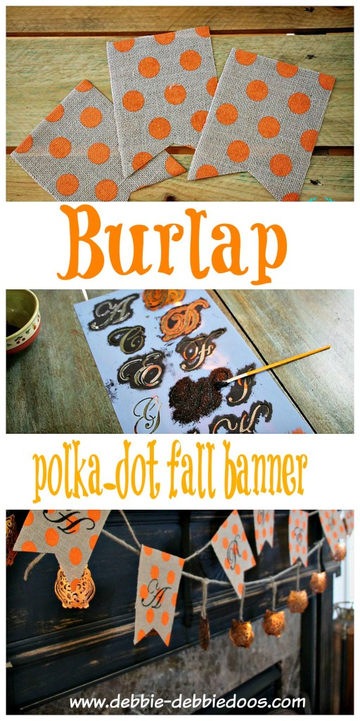 burlap polka dot fall banner