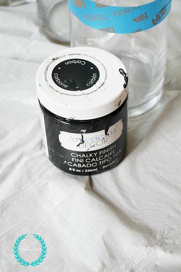 carbon color chalky paint