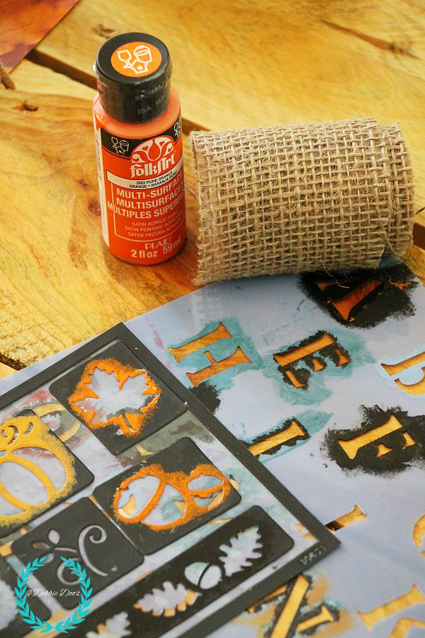 craft supplies for rustic pumpkins
