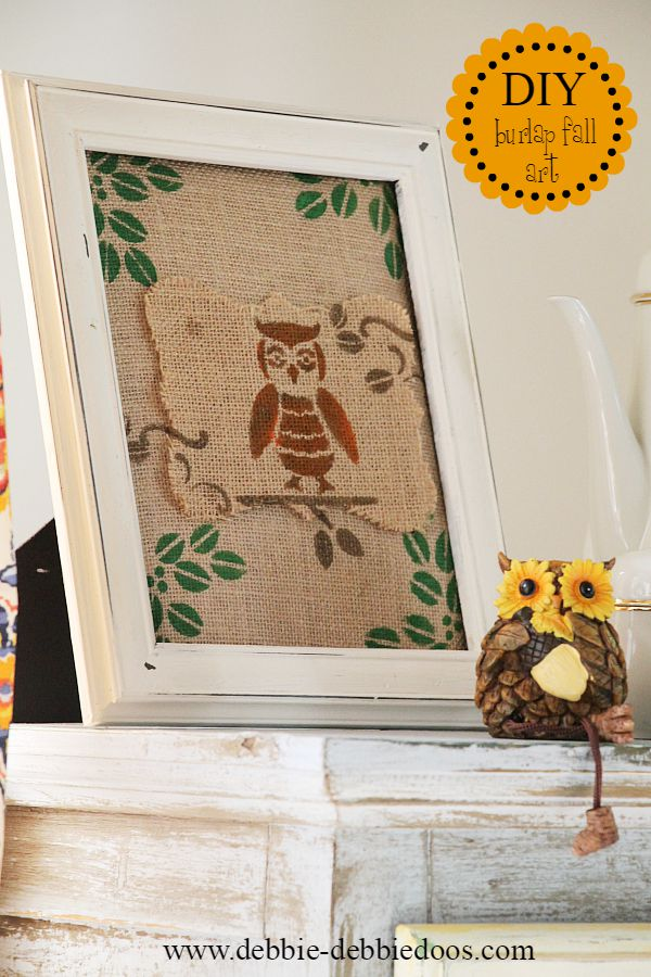 diy burlap fall art work