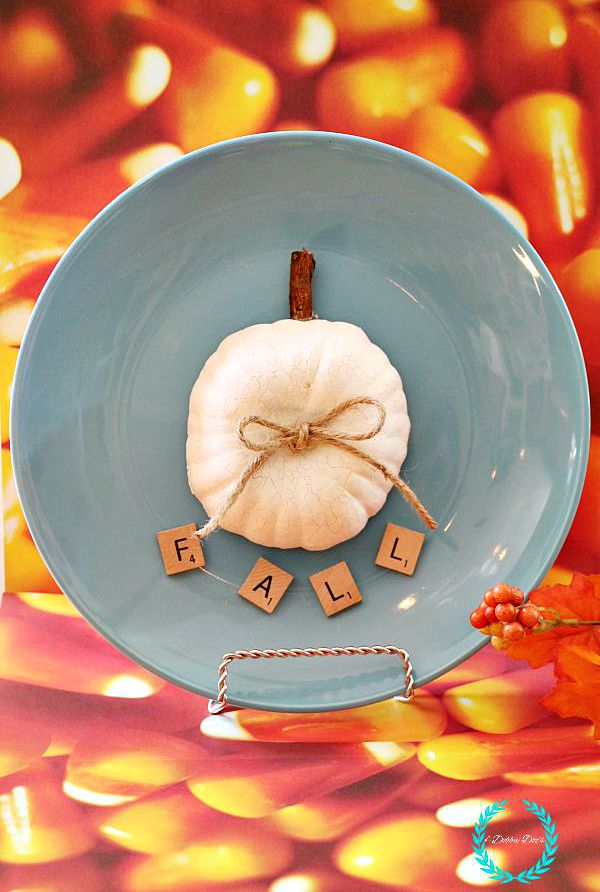 dollar tree pumpkin plate