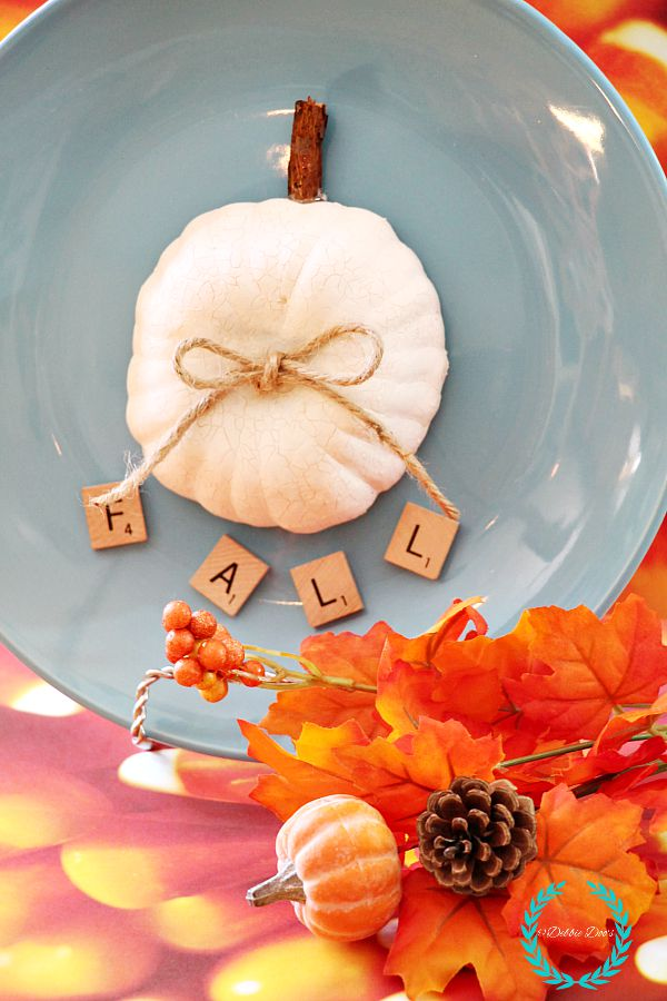 fall pumpkin plate