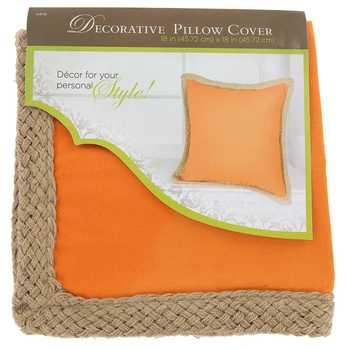 hobby lobby canvas with jute trim pillow cover