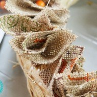 Natural burlap mini rag wreaths