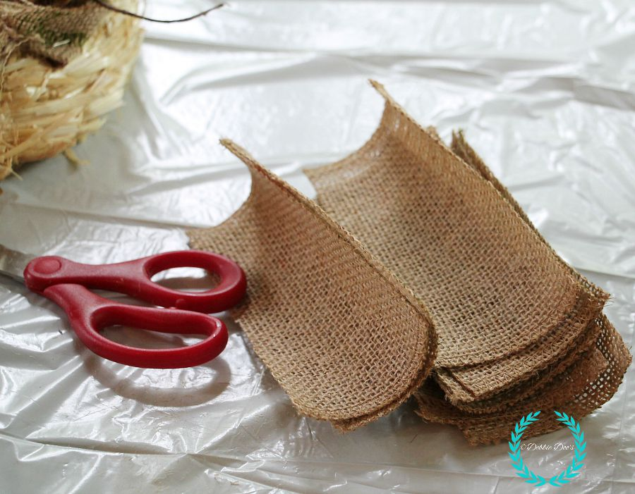 natural burlap fall wreath step by step
