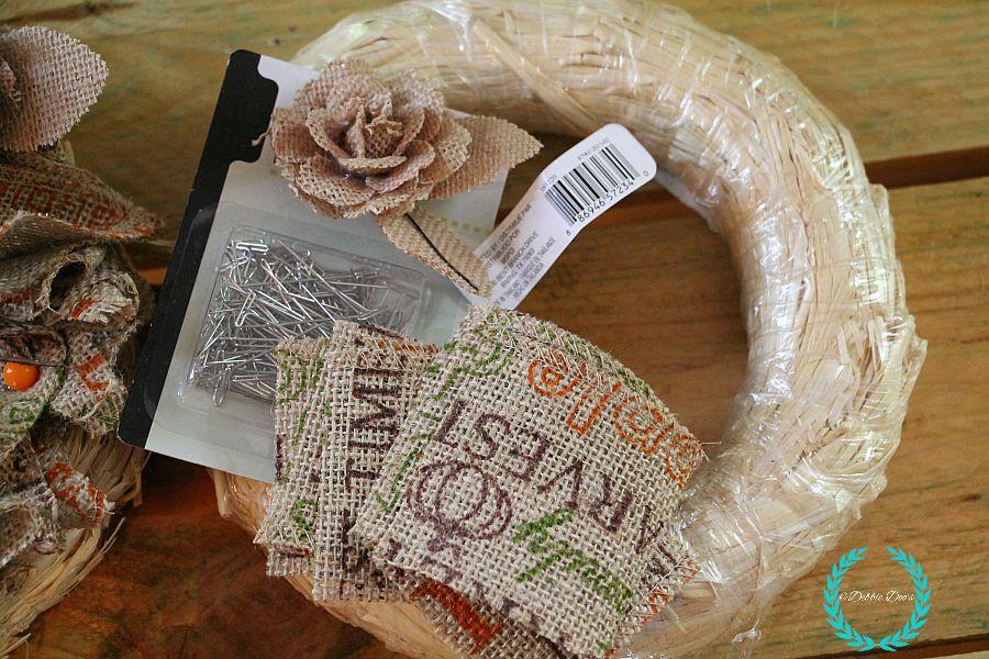 natural fall wreath supplies
