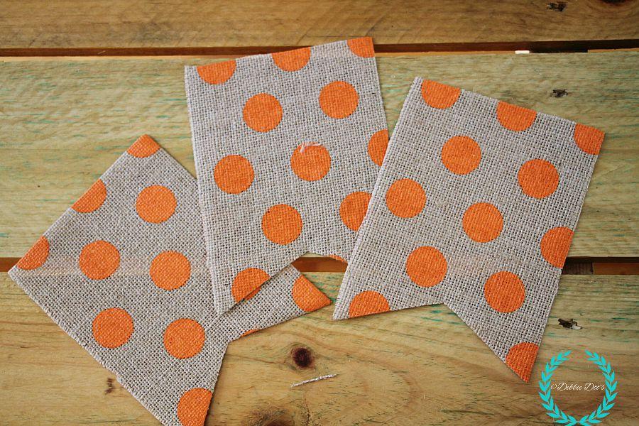 pre cut burlap banner bunting