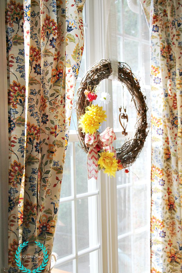 pretty tablecloth for curtains