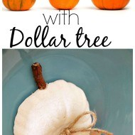 Pumpkin crafting ideas with dollar tree