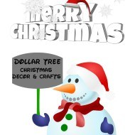 Dollar tree Christmas craft and decor ideas