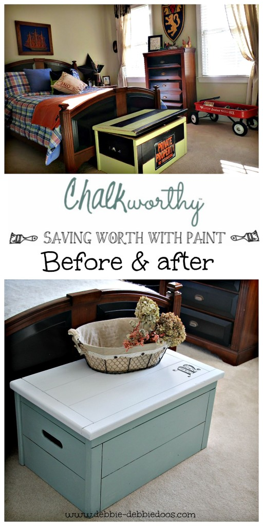 Before and after tox box makeover with chalkworthy
