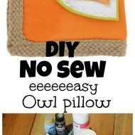No sew owl fall pillow idea