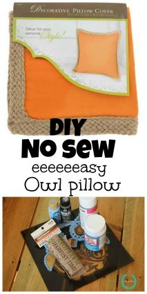 Diy easy NO SEW owl pillow for under $10.00