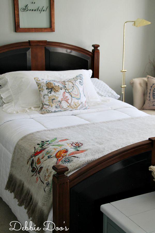 Fresh bedroom makeover for guests