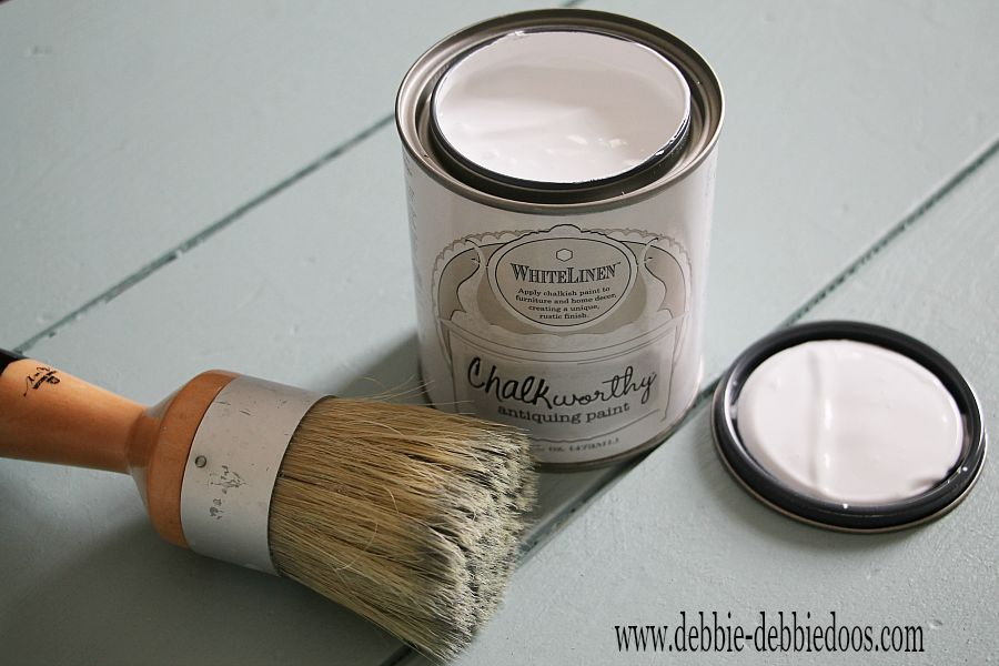 chalkworthy white linen paint