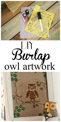 how to make your own burlap owl art work on a budget
